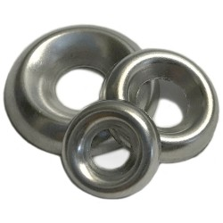 3//8 Stainless Countersunk//Cup Finishing Washers 100